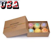 Organic Bath Bombs Bubble Bath Salts Essential Oil Handmade Spa Stress Relief Us