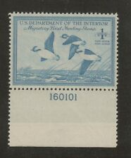 RW15  Federal Duck Stamp.  X/Fine Plate Numbered Single MNH. OG.  #02 RW15PNS