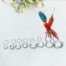 2 Pcs/Set Parrot Leg Ring Alloy Outdoor Flying Training Birds Pigeon Foot Rings