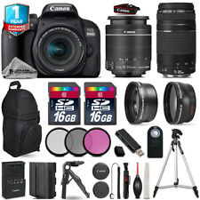 Canon Rebel 800D T7i Camera + 18-55mm IS STM + 75-300mm + EXT BAT + 1yr Warranty