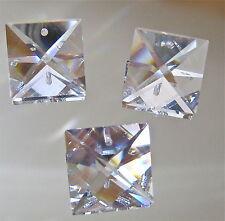 Swarovski Crystal Three Square Prism Suncatcher Ornaments,  22mm ! inch