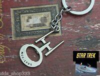 STAR TREK NCC 1701 Key chain ENTERPRISE  Chrome Collectible Comiccon spock Kirk