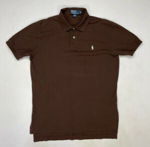 Polo Ralph Lauren Polo Shirt Men Adult Medium Brown Pony Short Sleeve