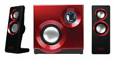 Sweex 2.1 Wired 3.5mm Stereo Speaker Set for Desktop PC Laptops Mac - Red