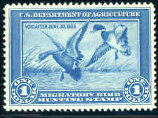 RW1 1934 FEDERAL DUCK STAMP GRADE 90 XF Almost invisible hinge UL