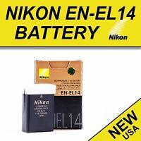 New EN-EL14 14a Battery for Genuine Nikon D3100 D3200 D3300 D5100 D5200 D5300