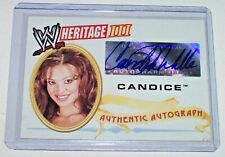 2007 WWE Topps Heritage III 3 Autograph Candice Michelle Raw Smackdown Diva Auto