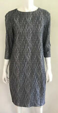 New! DIGBYS grey Scribble Stretch Pocket Dress ~ size 2 / 10-12 rrp $330