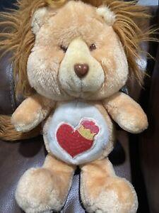 """Vintage 1984 Care Bears Cousin 13"""" Brave Heart Lion plush Doll"""