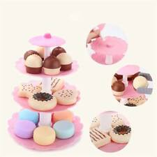 17Pcs Kids Role Play Pretend Cake Donut Dessert Tower Toy Set Colorful Cookies