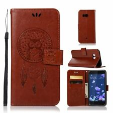 Magnetic owl Dreamcatcher leather stand Wallet flip Silicone phone cover case #5
