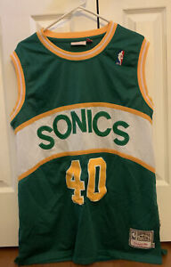 mens Mitchell & Ness Shawn Kemp Seattle Sonics Hardwood Classics Jersey SZ XL