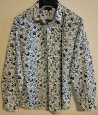 Oxford Men's Floral Long Sleeve Shirt - XL