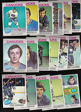 1975 Topps Vancouver CANUCKS Team SET Lot of 17 NM/MT LEVER BOUDRIAS