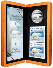Canada Post - Thematic Collection #131 - 2$ Polar Bear Stamp and Coin Set (2004)