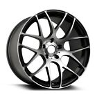 "18"" ARA Wheels Mesh 18x8.5 5x114.3 40 Offset Alloy Rims Machined Black"