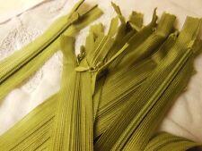 grande fermeture éclair 50 cm vert  invisible non- séparable  robe