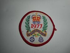 Vintage 70s Boy Scout 1977 The Queen Silver Jubilee Patch 2.5""