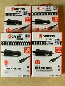 4 x GRIFFIN USB-C Car Fast Charging For Phones & Tablets (60%+ OFF!!!)