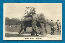 1930s WHIPSNADE ZOO PC ELEPHANT RIDING - CHILDREN & KEEPERS