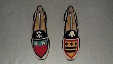 """RARE!!! Men's $495 Stubbs & Wootton Needlepoint """"CREST"""" Loafers Slippers Shoes"""