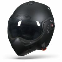 ROOF Boxer V8 Full Black - Solid Matt Harley Davidson Custom Street Helmet - New