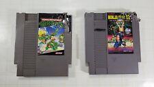 Lot of 2 Nintendo NES Games - Ninja Gaiden 2 - Teenage Mutant Ninja Turtles