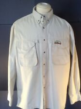 Sports Chief Men's Fishing/ Photography 100%Cotton Water Resistant Shirt Sz Lg