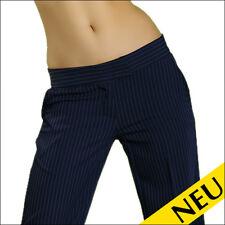 NEU 🌸 Sexy Damen Business Hüfthose Blau Anzughose Streifen Stoffhose 🌸 42
