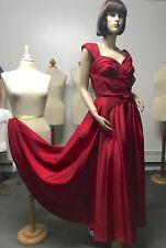 NEW IN GARMENT BAG J PETERMAN VALENTINE TAFFETA DRESS GOWN SZ 12 BUST 38-40 $279