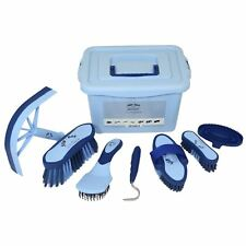 Equestrian Horse Grooming Cleaning Brush Set Horse Grooming Brushes Kit Blue
