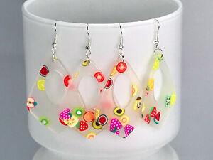 KAWAII FRUIT EARRINGS laser cut acrylic resin earrings mixed fruit funky seventi