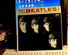 EXCELLENT MEET THE BEATLES STEREO 3 BMI  #6 HOLLYWOOD  FEB 64 GENUINE LENNON