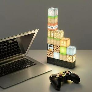Minecraft Lego Building Rechargeable Block Lamp Light USB Button for Desktop use