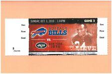 New York Jets @ Buffalo Bills 2010 ticket Booker Edgerson photo Western Illinois