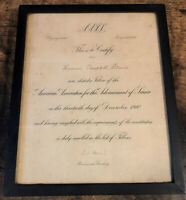 Antique AAAS 1910 Fellow Certificate Advancement of Science Old Glass Historical