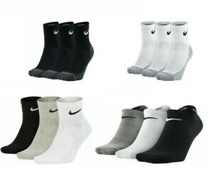 Nike Mens Womens 3 Pairs Socks Crew Everyday No Show Ankle Cotton Sock