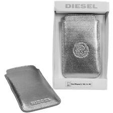 Diesel Metallic Schutzhülle Handytasche Cover aus Lamm Leder