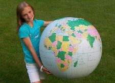 "36"" Inflatable Light Blue Political Earth Globe  - Earthball - Beach Ball"
