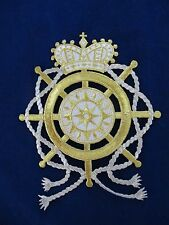 #3251 Gold,White Crown,Wheel,Rope,Star Embroidery Iron On Applique Patch