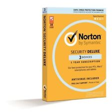 Norton Symantec Internet Security Deluxe 2018 Antivirus 3 Users 1 Year PC MAC AU