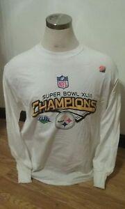 Pittsburgh Steelers Super Bowl XLIII Champions Locker Room LS T-Shirt XX-Large
