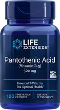 Pantothenic Acid (Vitamin B5) Life Extension 100 VCaps