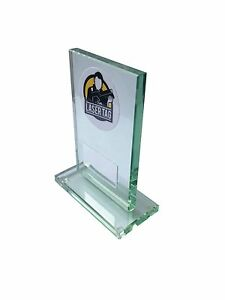 Glass Laser Tag / Quasar Trophy award. Free Engraving