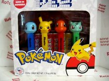 PEZ NEW Pokemon boxed set of 4 with printed stems