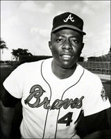 Hank Aaron Photo 8X10 - 1966 Atlanta Braves - Buy Any 2 Get 1 Free