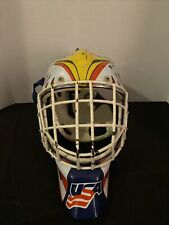 Unique ITECH Goalie Mask USA Edition With Back Straps And Pad