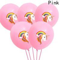 "1/10 pcs Magical Unicorn Princess Birthday Girls Pink 12"" Latex Balloons UK"