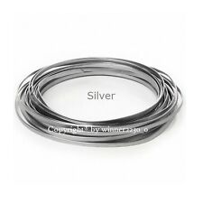 5mm Wide SILVER Flat Wire Aluminium JEWELLERY Craft DIY Florist Decor 3m Length