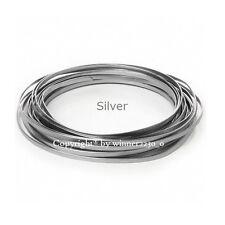 5mm Wide SILVER Flat Wire Aluminium JEWELLERY Craft DIY Florist Decor 3m Length